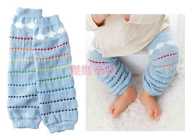 傑媽童裝A005日單藍色雲朵圖案襪套A005