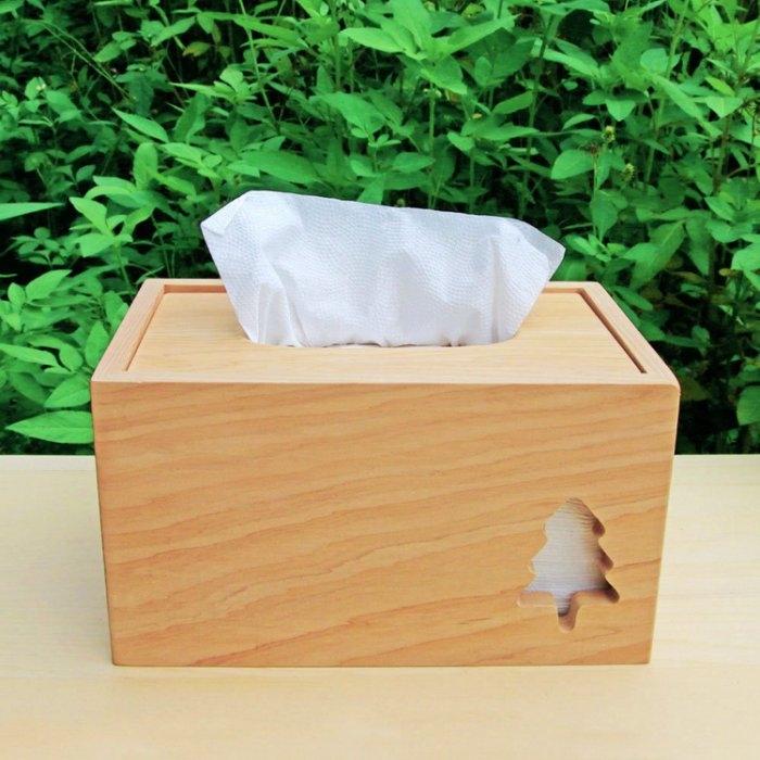 木樂館原木台檜小樹衛生紙盒台灣檜木活動式面紙盒木盒置物盒居家雜貨