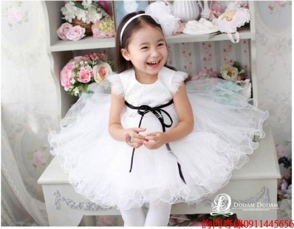 45 Design訂做款式7天到貨女花童禮服兒童生日禮服婚禮花童婚紗花朵演出服裙
