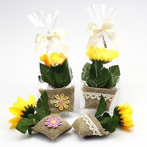 幸福婚禮小物陽光向日葵盆栽磁鐵探房禮桌上禮二進禮物活動小禮物送客禮