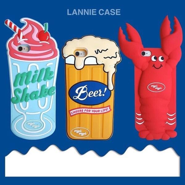 iPhone手機殼 歐美吃貨龍蝦啤酒冰淇淋 矽膠軟殼 蘋果iPhone7/iPhone6手機殼