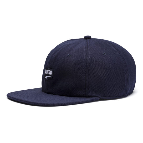 Puma Logo 深藍色 運動帽 老帽 刺繡logo 遮陽帽 六分割帽 經典棒球帽 運動帽 02193302