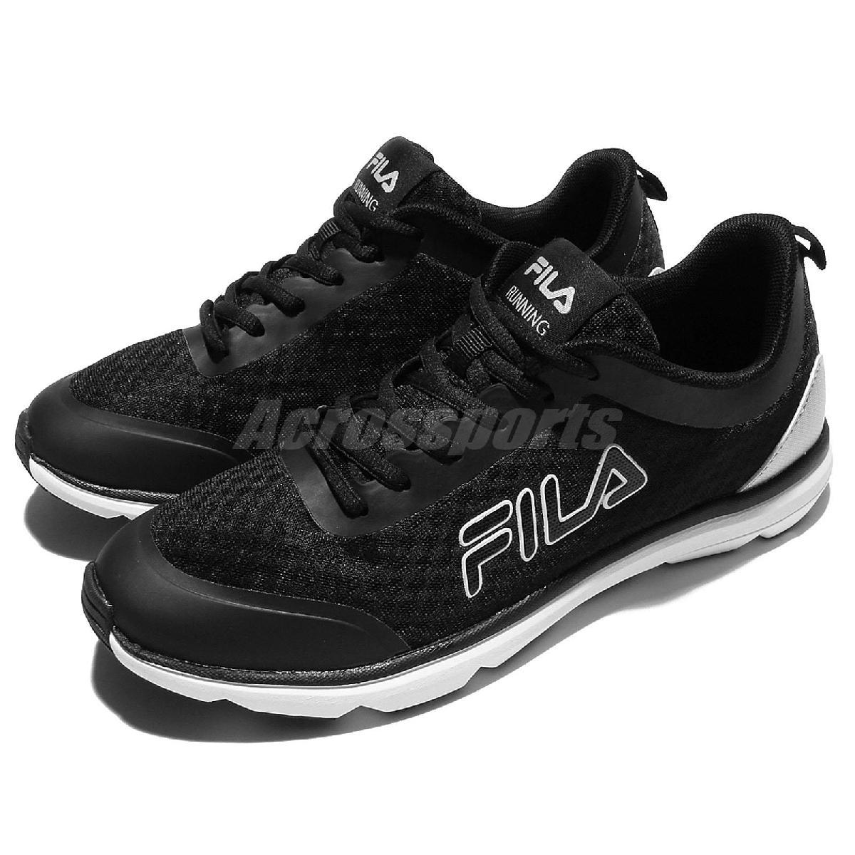 FILA 慢跑鞋 J319R 低筒 黑 白 運動鞋 輕量 基本款 男鞋【PUMP306】 1J319R041