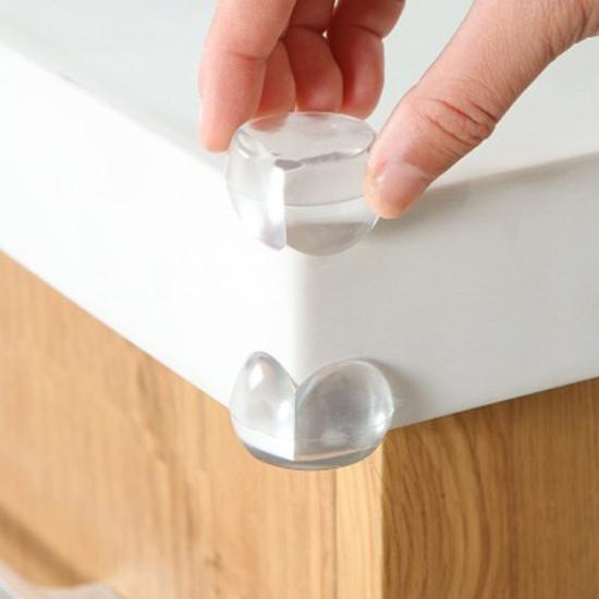 ♚MY COLOR♚安全透明防撞角(4入) 加厚 透明 兒童 寶寶 保護角 嬰兒 防護 保護套 居家 臥室【N354-1】