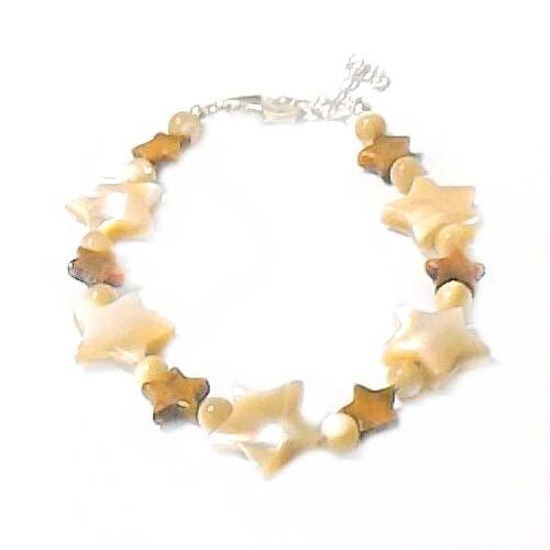 貝殼星星與水晶珠手鍊