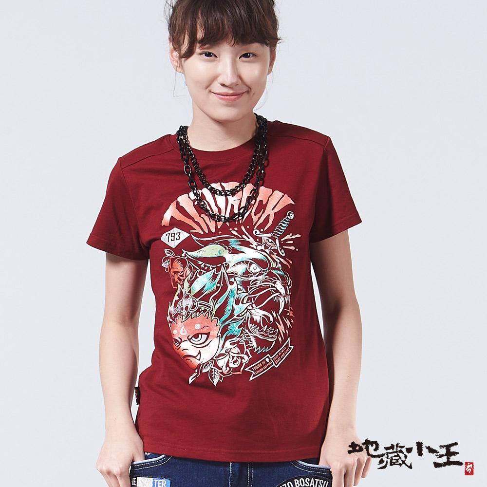 【2017春季新品】女地藏黑豹仿箔短TEE(紅)- BLUE WAY  地藏小王