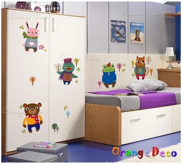 壁貼【橘果設計】卡通人物 DIY組合壁貼/牆貼/壁紙/客廳臥室浴室幼稚園室內設計裝潢