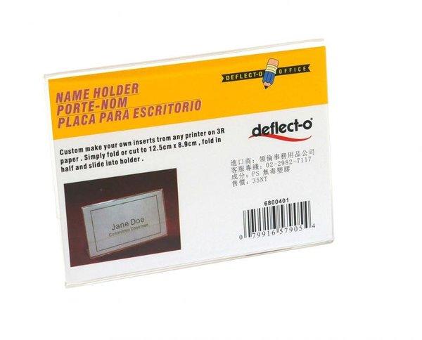 迪多Deflect-o 直式L型標示架3.5X5吋 69401 壓克力展示架/壓克力標示架