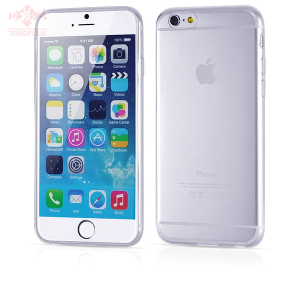 世明國際特價59超薄iPhone6 6手機彩色清水套手機套透明i6 6軟殼保護套