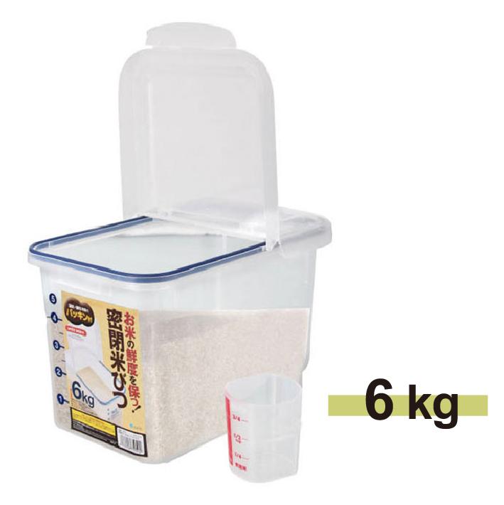 日本ASVEL密封保鮮米箱-6kg廚房用品米桶米壺保鮮防潮密封盒