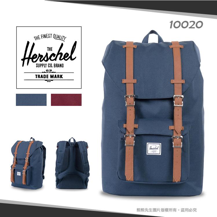 熊熊先生加拿大潮流品牌Herschel筆電包帆布背包後背包登山包透氣背帶學生書包10020
