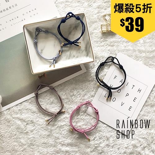 個性交叉綁結手環髮圈-C-Rainbow【AB072714】