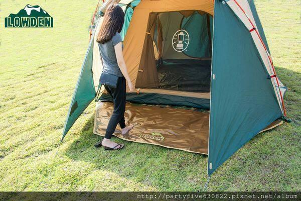 LOWDEN VIP 270*350-超耐磨夾層網布防潮地墊野餐墊多功能地布大地色加厚款露營地墊地布