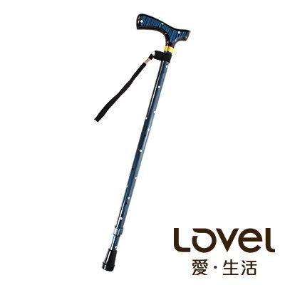 里和Riho LOVEL經典高質感可調整高低拐杖手杖(雨點藍)