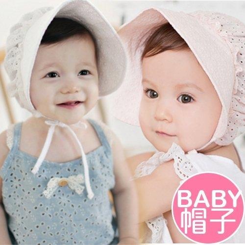 超可愛寶寶遮陽帽防曬帽嬰兒出遊