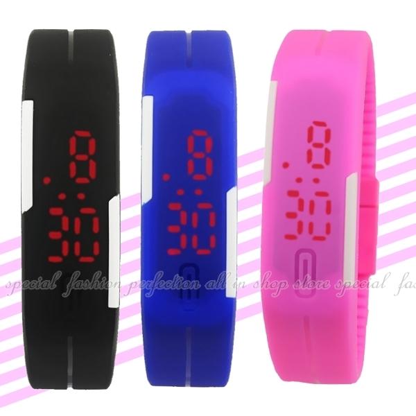 【DD280】手環LED手錶 時尚手環錶 防水矽膠手錶帶 手環手錶運動錶★EZGO商城★