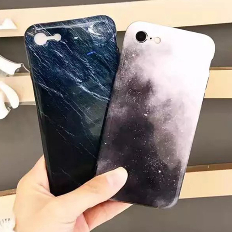 SZ25 iphone7plus手機殼星空岩石紋iPhone7手機殼iPhone6 6s plus全包軟殼