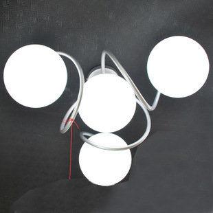 義大利風圓球臥室吸頂燈4頭龍珠