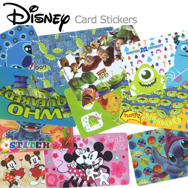 iaeShop DISNEY迪士尼史迪奇玩具總動員怪獸大學維尼米奇米妮悠遊卡貼紙卡片貼紙