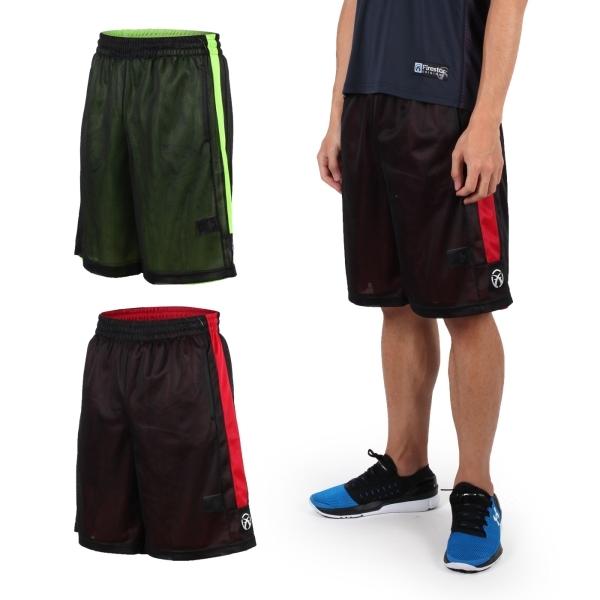 FIRESTAR 男雙面網布籃球褲(慢跑 路跑 籃球 休閒  免運≡威達運動≡