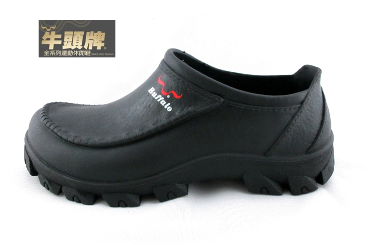 {拾在便宜}現貨不用等-牛頭牌 【912218】 PVC 防水 防油 防滑 膠 鞋雨鞋 廚房 工作鞋 廚師鞋 考試