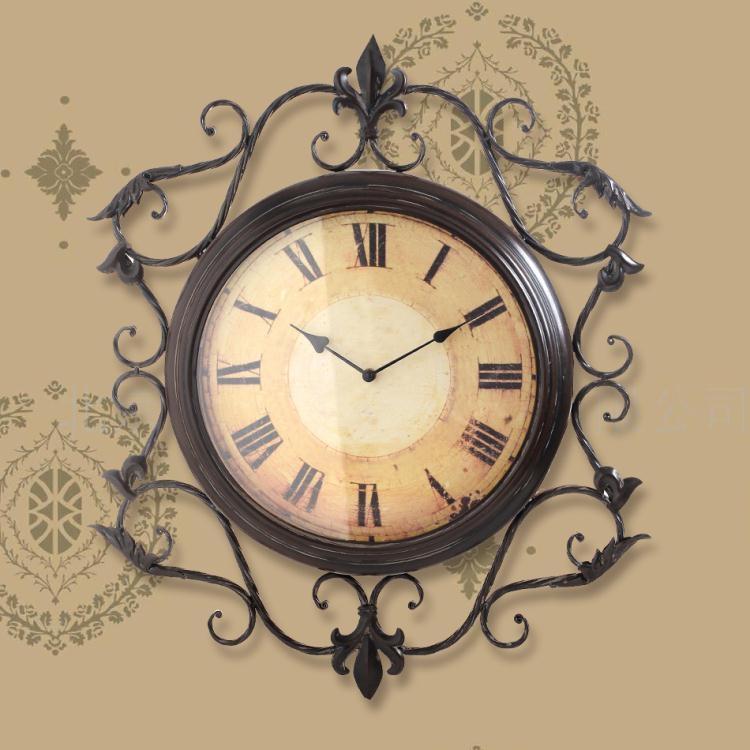 復古鐘表掛鐘客廳超大號靜音創意時鐘TWღ部落男裝ღ