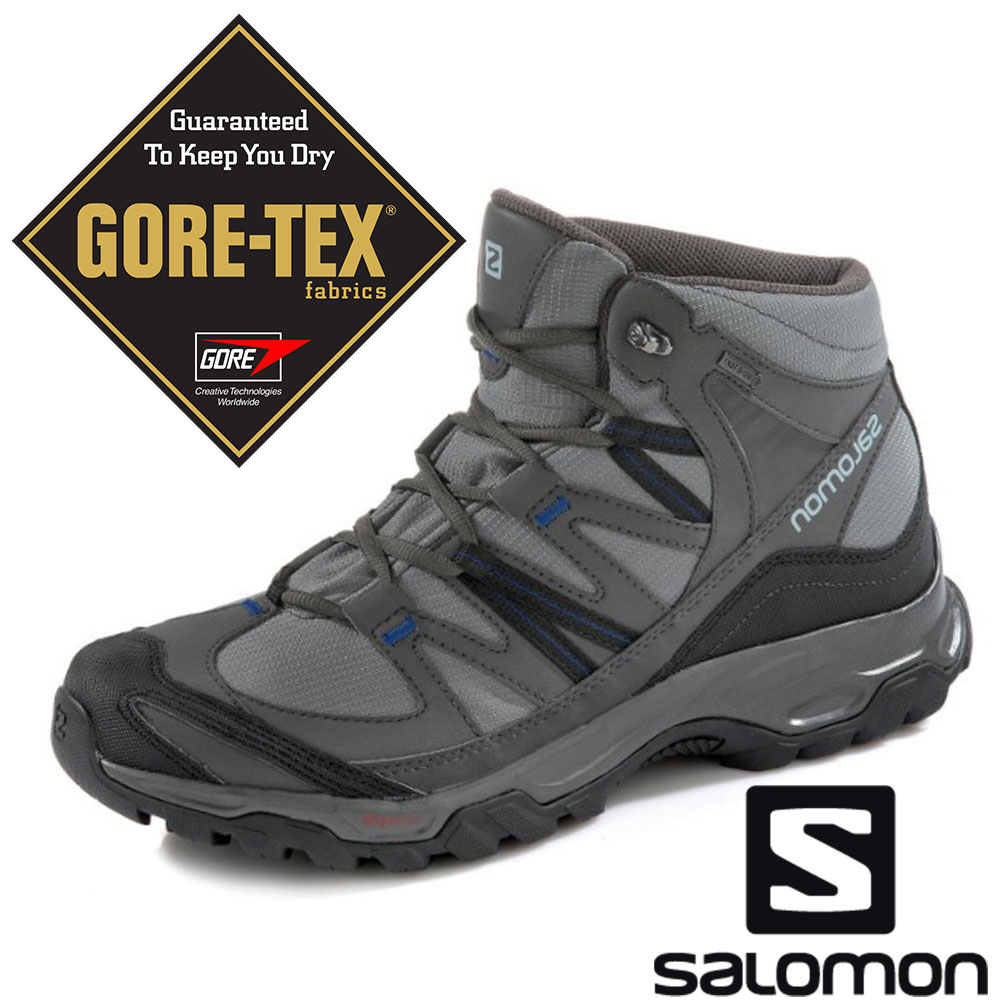 【SALOMON 法國】男MUDSTONE MID 2 GTX中筒登山鞋『陰影灰』394682 GORE-TEX 越野鞋 登山鞋 健行鞋