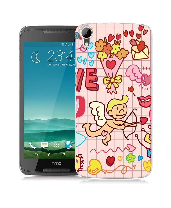 俏魔女美人館粉紅派對立體浮雕水晶硬殼HTC Desire 828手機殼手機套保護套保護殼