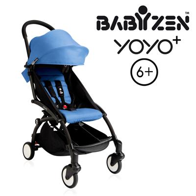 法國BABYZEN YOYO 6嬰兒手推車-黑車藍衛立兒生活館