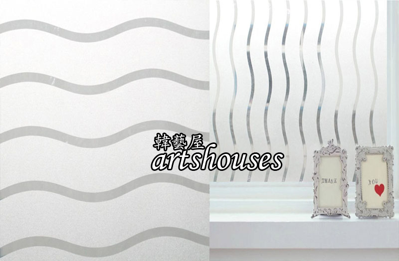 XM-3DWDK波浪紋3D無膠靜電玻璃貼窗貼防曬壁貼可重複貼kitchen bathroom glass