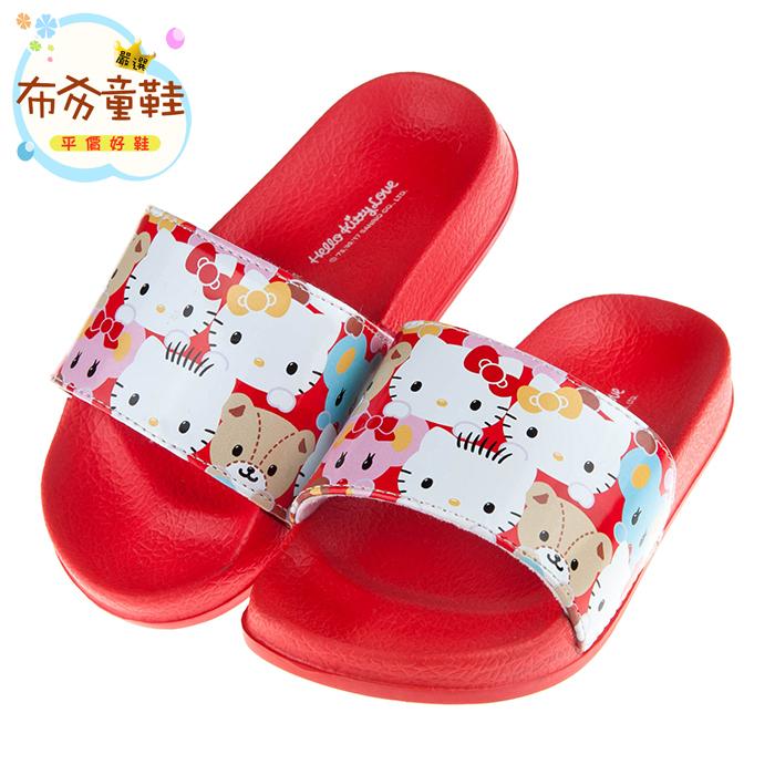 《布布童鞋》HelloKitty凱蒂貓紅色動物派對兒童拖鞋(17~23公分) [ C7M938A ] 紅色款