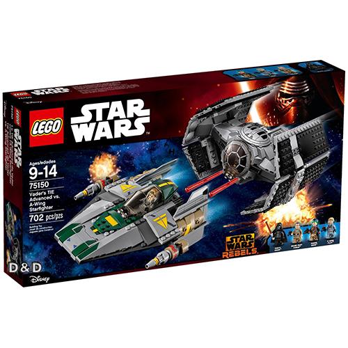 樂高積木LEGO LT75150 STAR WARS星際大戰系列Vader's TIE Advanced vs.A-Wing Starfighter