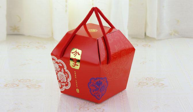 中號 分享 天燈盒 抽繩提盒 禮品包裝盒 紙盒 餅乾糖果盒