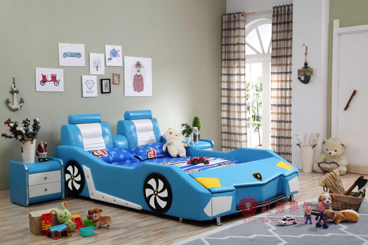 紅蘋果傢俱828兒童家具跑車大牛床兒童功能床單人床四尺五尺汽車床床架造型床床頭櫃