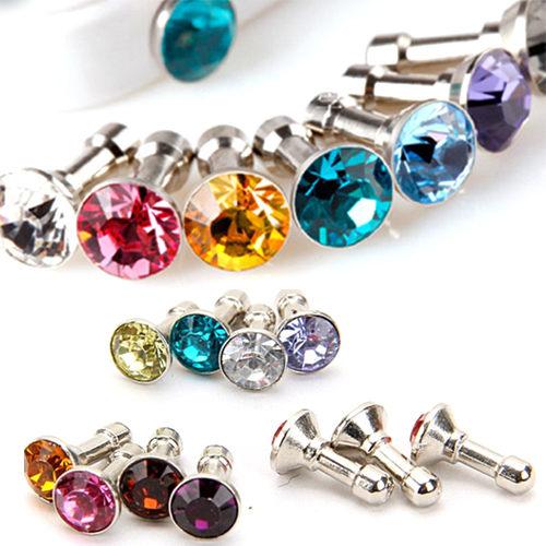 超低限購-玻璃水鑽鑽石手機防塵塞【省錢博士】不挑色