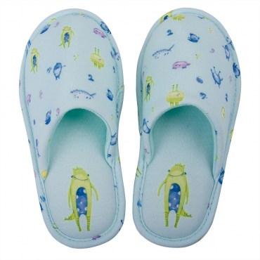 HOLA home太空怪物兒童拖鞋包口款M