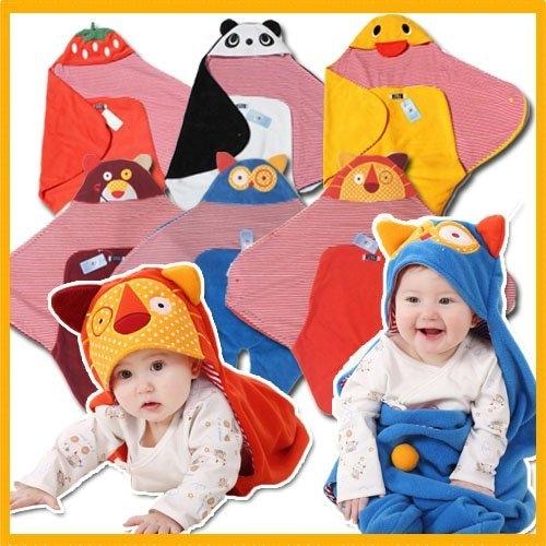 六款可愛動物嬰兒抱毯抱被男女寶寶包被新生兒繈褓睡袋嬰兒推車睡袋