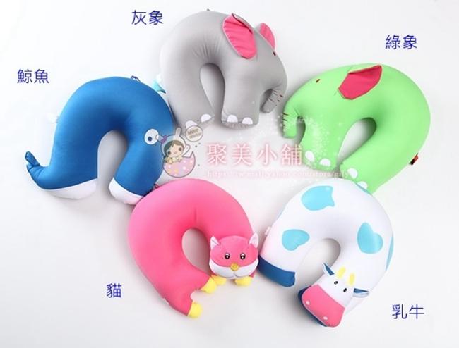 動物造型U型枕  奈米微粒(粒子) 午睡枕 護頸枕 車用靠枕 U型枕頭 抱枕 【聚美小舖】