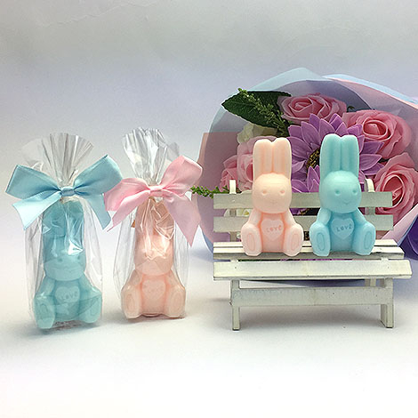 幸福婚禮小物兔子造型手工香皂-1組10入手工香皂送客禮迎賓禮桌上禮活動小禮物