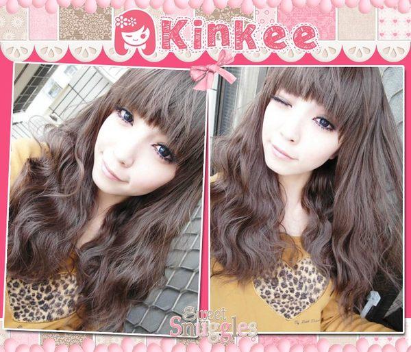 Kinkee假髮最HOT款韓系俏皮可愛風玉米燙蓬鬆感耐熱高仿真中長捲髮H0014