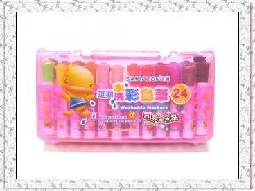 雄獅水洗彩色筆24色KFW-24A盒