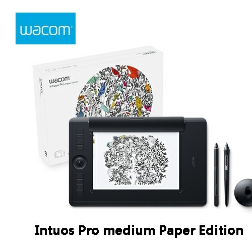 Wacom和冠Intuos Pro medium Paper Edition雙功能專業繪圖板PTH-660 K1-CX中尺寸觸控無線繪圖板