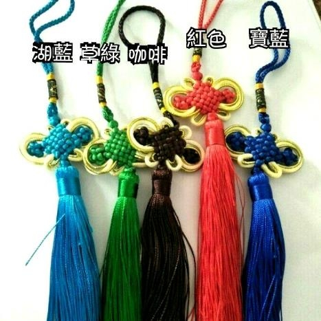 寬5公分大款:金蔥邊中國結吊飾批發單條6盤8盤隨機包包汽車居家佈置吊飾