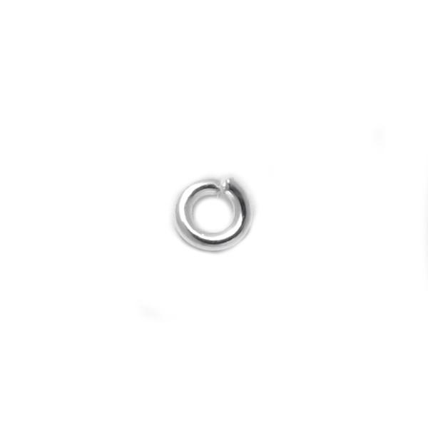 925純銀零配件-3mm開口圈/C圈/跳環-50個