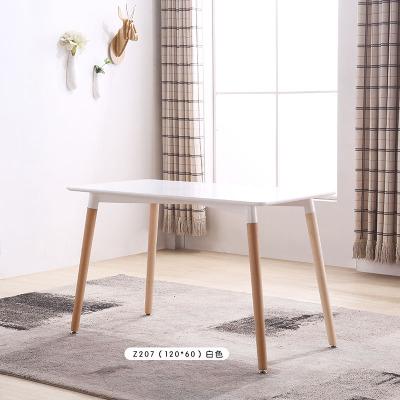 北歐實木餐桌椅組合咖啡廳桌奶茶店洽談桌椅伊姆斯小戶型吃飯桌子預購CH1374