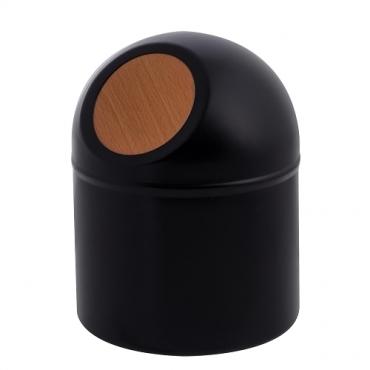 HOLA home龐畢迷你桌上型垃圾桶黑色