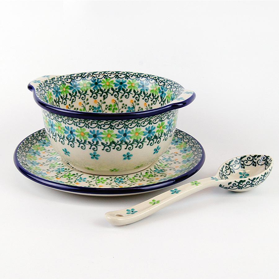 【手工波蘭陶 CA大廠】波蘭陶 碗 甜品碗及底碟組 3442362X