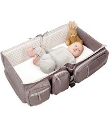 比利時寶寶行動眠床-沙褐棕Deltababy Carry Cot Travel Bag外出床