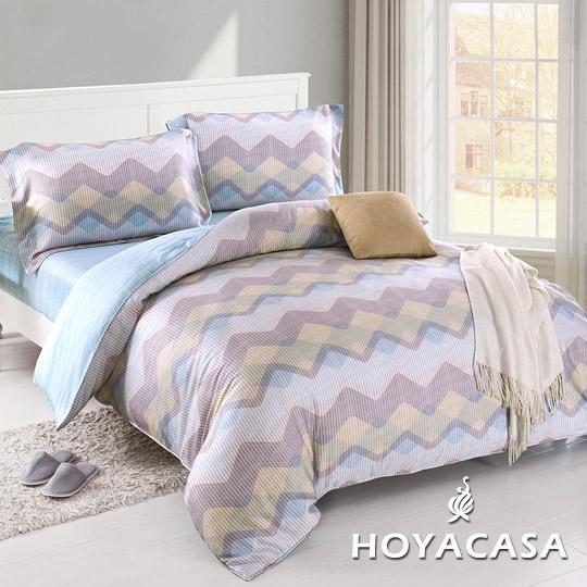雙人四件式抗菌天絲兩用被床包組-HOYACASA羅丹韻味