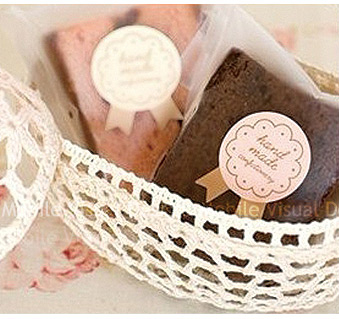 韓版handmade勳章貼紙1大張15枚-包裝材料手作貼紙點心餅乾糖果包裝裝飾封口貼